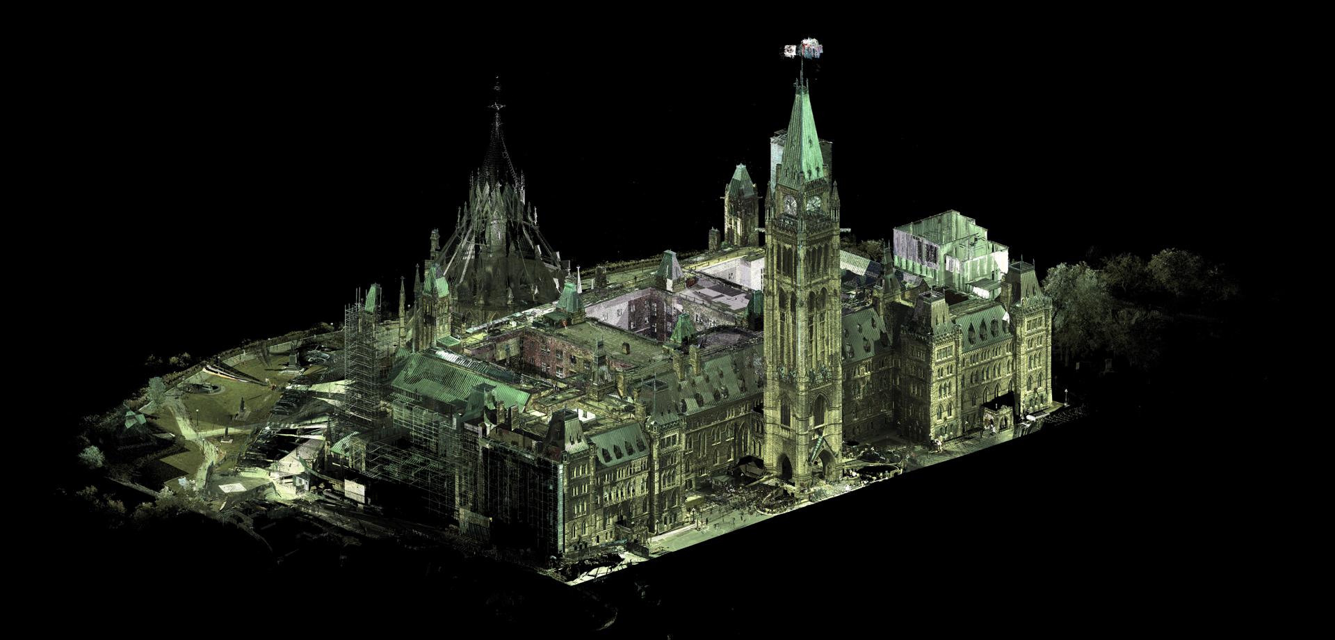 3D digital model of parliament hill