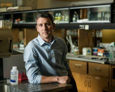 Kyle Biggar in lab