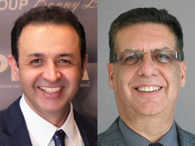 Side-by-side headshots of Ashkan Golshani and Frank Dehne of Carleton University